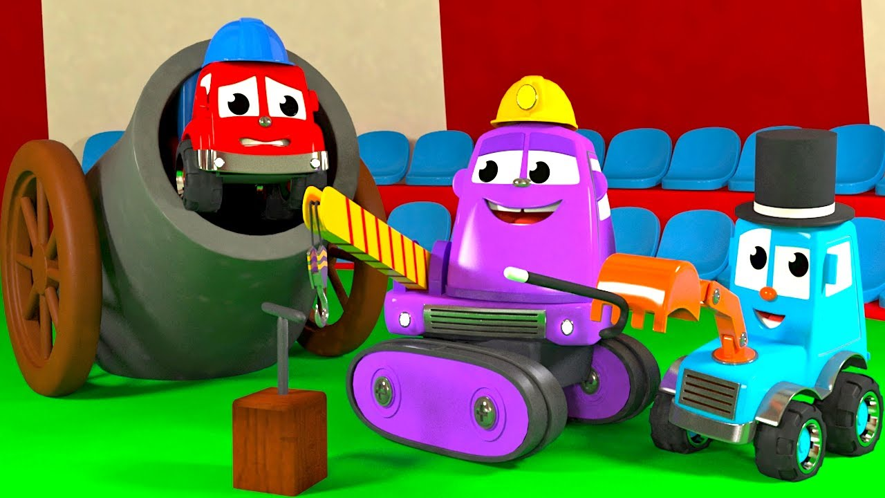 FRIENDS ON WHEELS EP 54 - CONSTRUCTION VEHICLES AT THE CIRCUS