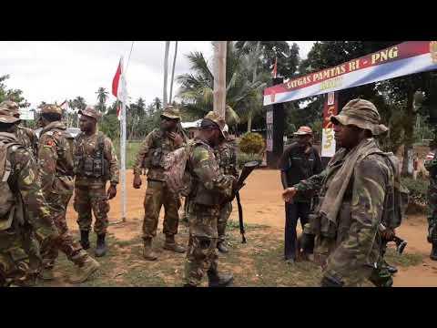Inilah Kekompakan Tantara PNG dan TNI -AD di Perbatasan