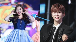 Kang Daniel and Jihyo Twice Sweet moment reaction at music awarld 2019