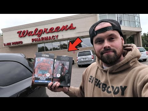 TOY HUNTING FOR WALGREENS EXCLUSIVE NEW MARVEL LEGENDS THE THING AND BLACK SERIES GENERAL VEERS