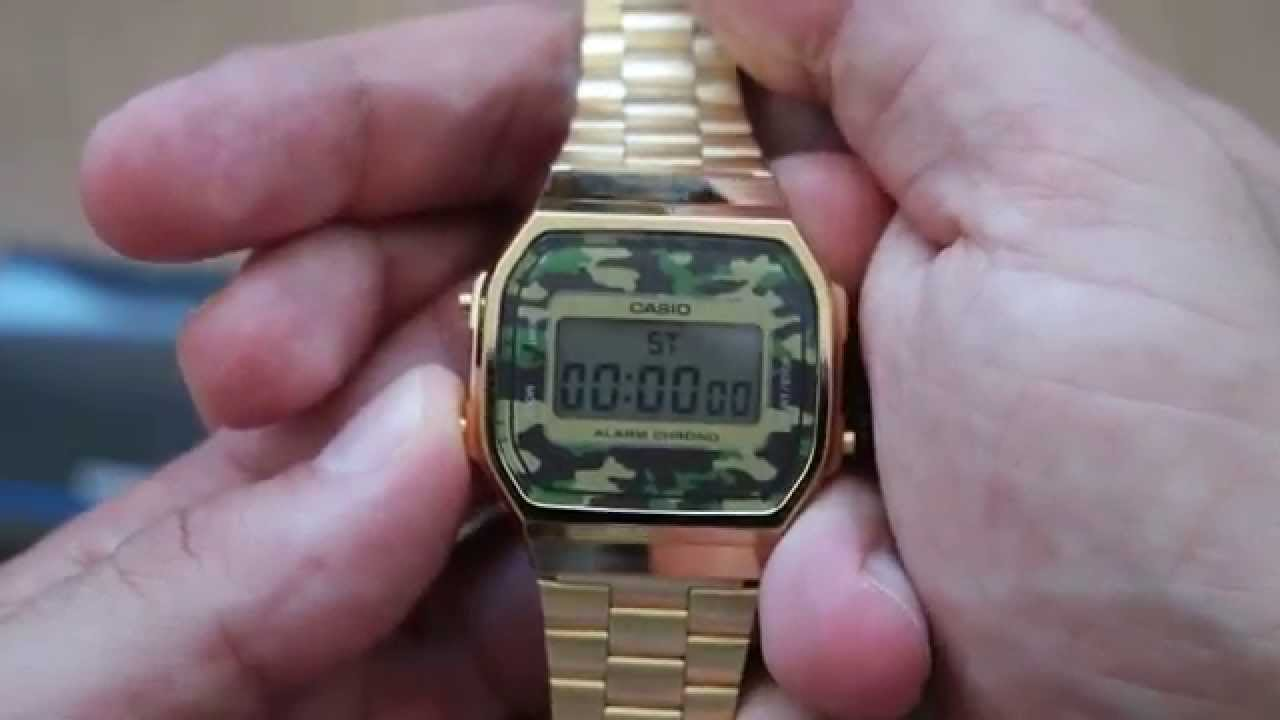 fa6bb3d0e5b CASIO Camouflage A168WEGC-3EF - YouTube