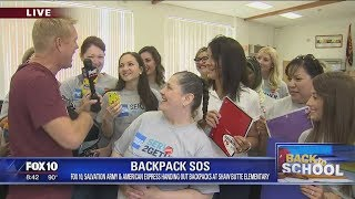 Back to School: Salvation Army, American Express hand out backpacks