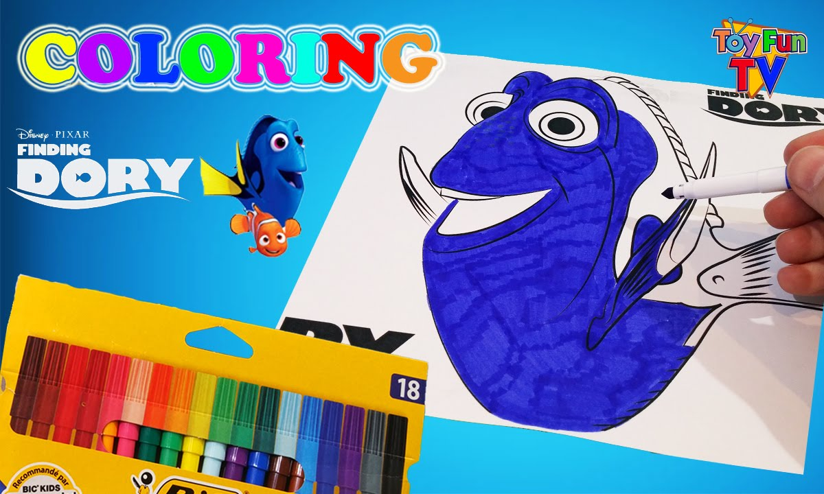Disney Finding Dory Coloring Book Finding Nemo Dory Colour Episode ...