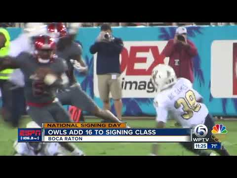 Florida Atlantic Owls add 16 players on College Football National Signing Day
