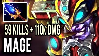 59 FUCKING KILLS AND 110k Damage ! The Best Tinker in The World by Mage Dota 2