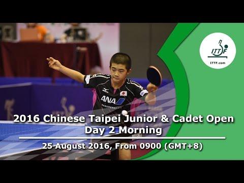 2016 ITTF Chinese Taipei Junior & Cadet Open - Day 2 Morning