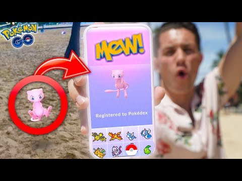 I CAUGHT MEW IN POKÉMON GO! First Ever MYTHICAL POKÉMON In The DEX!