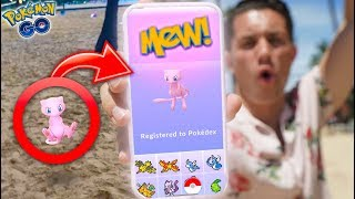 I CAUGHT MEW IN POKEMON GO First Ever MYTHICAL POKEMON in the DEX
