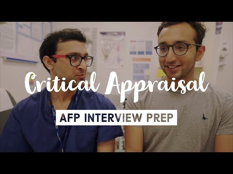 Critical Appraisal for medical interviews - Preparing for AFP (Academic Foundation Programme)