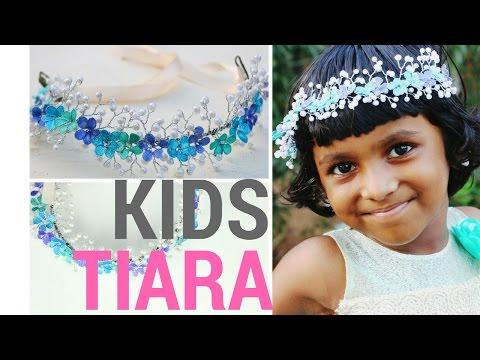 DIY Tiara for Kids    Nail Polish Flowers and Pearls Design    DIYCrafts #7
