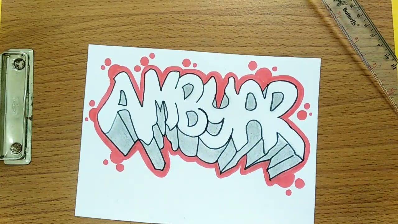 Trik Cara Membuat Tulisan Graffiti Ambyar Mudah Untuk Pemula Youtube