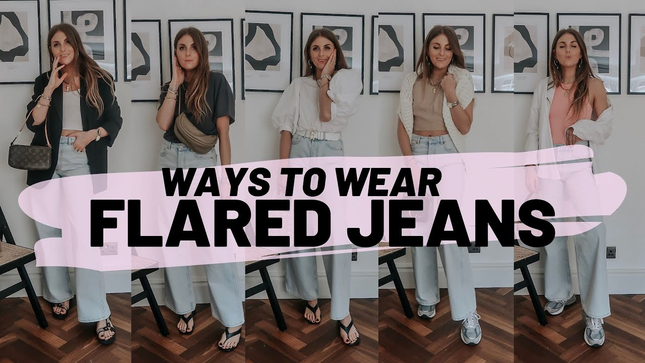 HOW TO STYLE FLARED JEANS : 5 Spring Outfit Ideas / Sinead Crowe