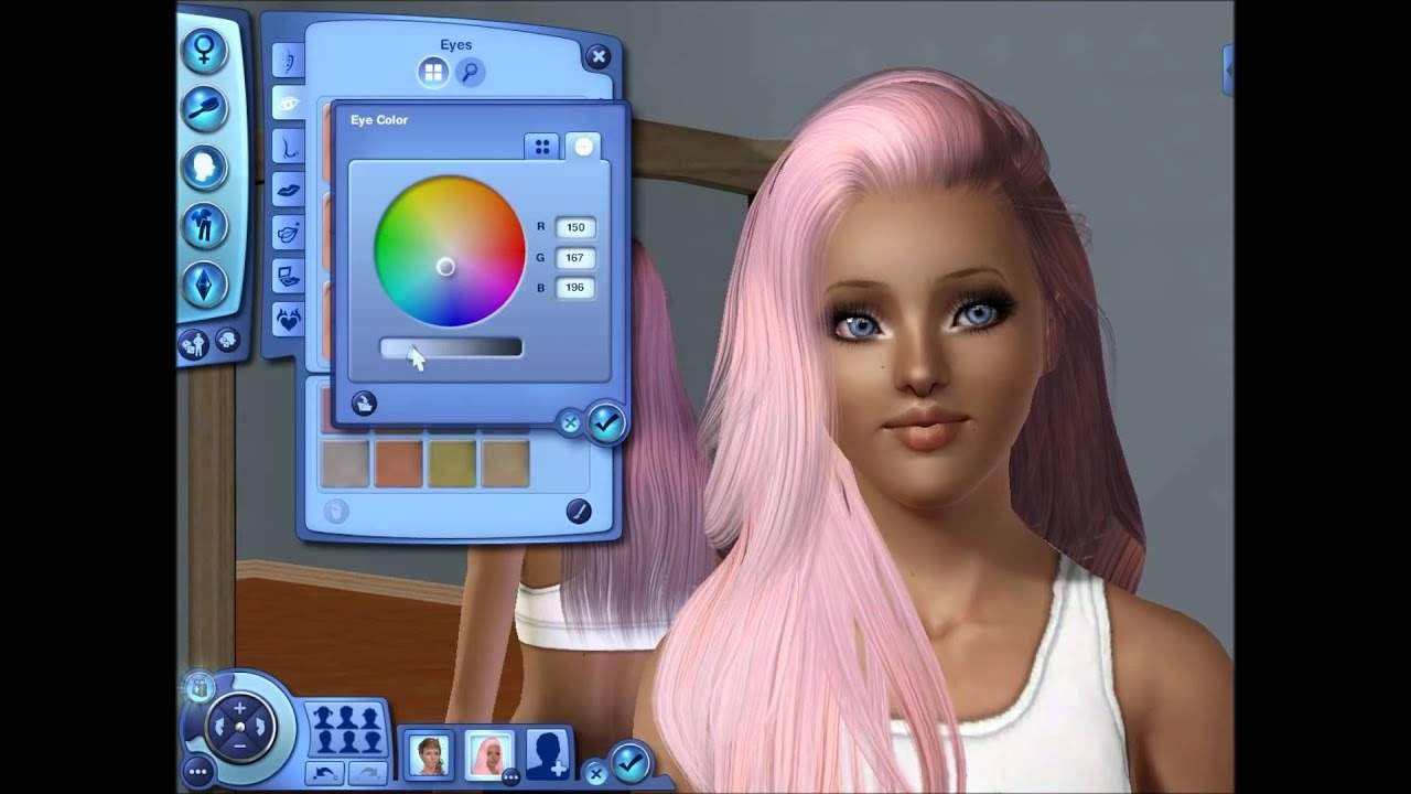 Cute Bedroom Ideas For Teenage Girls Making A Cute Pink Haired Girl Sims 3 Youtube