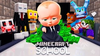 Minecraft School - BOSS BABY MEETS WITH FNAF, HELLO NEIGHBOUR AND MORE!