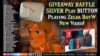 LIVESTREAM! Giveaway Raffle + Playing Zelda BotW + SILVER PLAY BUTTON + NEW VIDEO! Join!