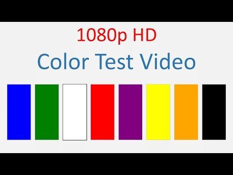TV, Laptop, Phone screen color test video HD 1080p