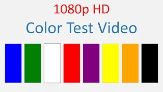 TV, Laptop, Phone screen color test video HD 1080p