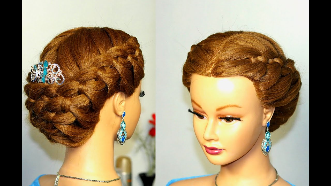 Prom hairstyle to the side
