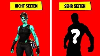 THE RARE SKINS IN FORTNITE BATTLE ROYALE