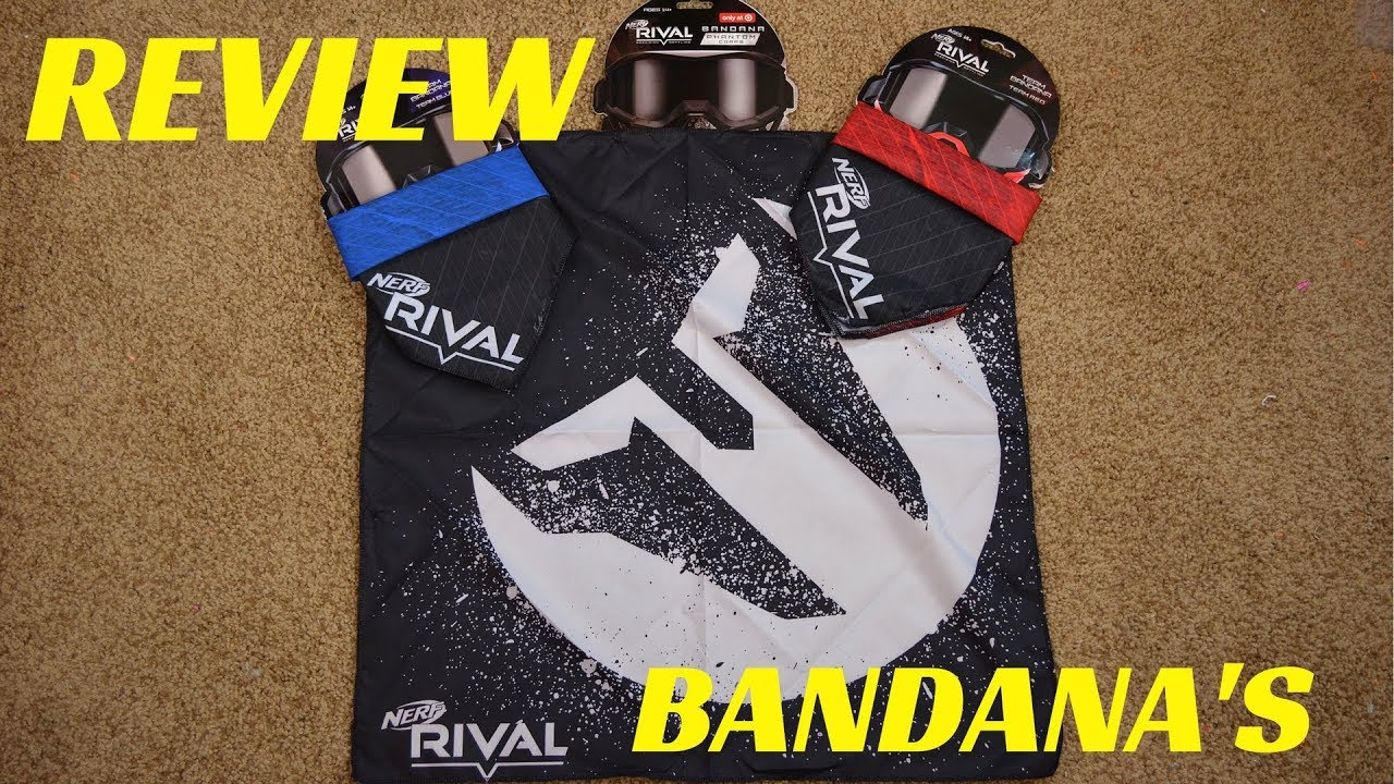 Review Nerf Rival Bandana S Red Team Blue Team And