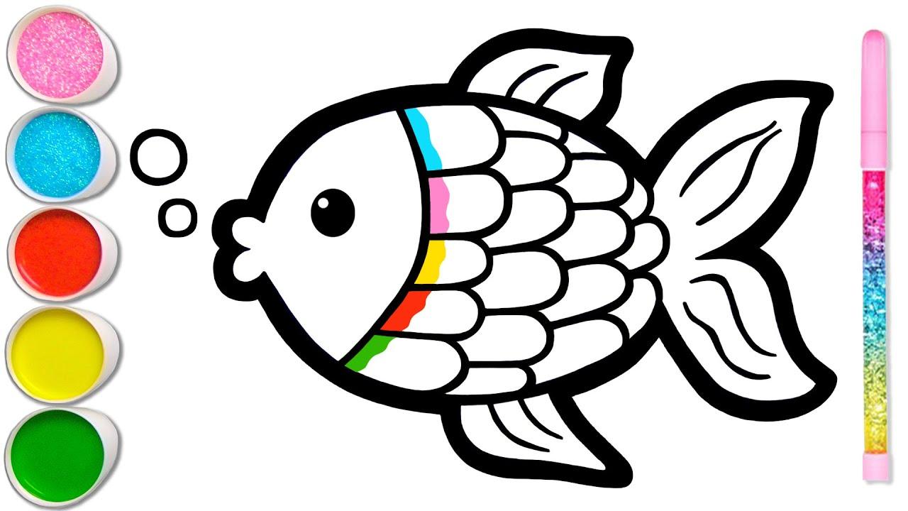 Download Menggambar Ikan dan Mewarnai untuk Anak & Balita | Meningkatkan Kemampuan Menggambar #78
