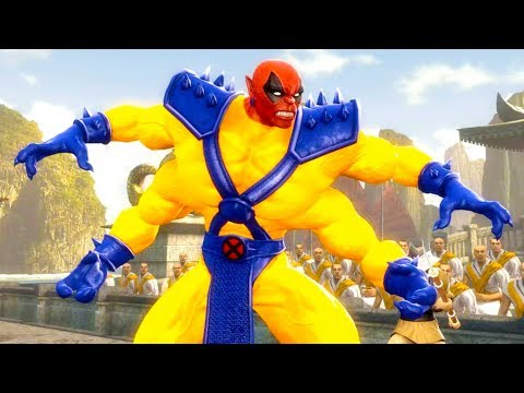 Mortal Kombat Komplete Edition - X-Men Deadpool Kintaro & The Flash Tag Ladder Playthrough thumbnail