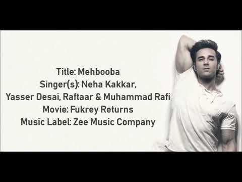 Tu meri mehbooba full lyrical video song fukrey returns