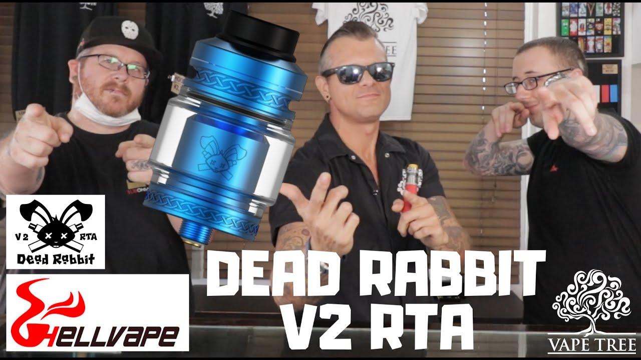 HELLVAPE DEAD RABBIT V2 RTA - Vape Tree Review (字幕付き)