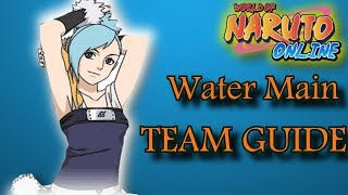 Naruto Online: Water Main/Azure Fang /Team LineUp GUIDE