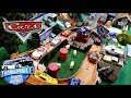 watch he video of DISNEY CARS MEGA THOMSAVILLE TOWN PLAYSET! BEST CITY EVER! NEW COMPLETE RACING LEGENDS COLLECTION!