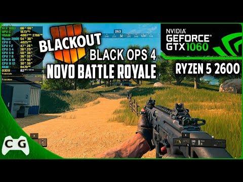 Black Ops 4 BLACKOUT (Battle Royale) Teste GTX 1060 3gb