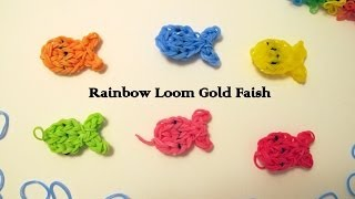 How to make Rainbow Loom Goldfish Charms thumbnail