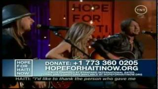 [Kid Rock, Sheryl Crow & Keith Urban] [2010 Hope For Haiti Now Telethon] Lean on Me
