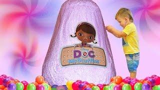★ Гигантское яйцо с сюрпризами ДОКТОР ПЛЮШЕВА Doc McStuffins GIANT Surprise EGG Disney Junior toys