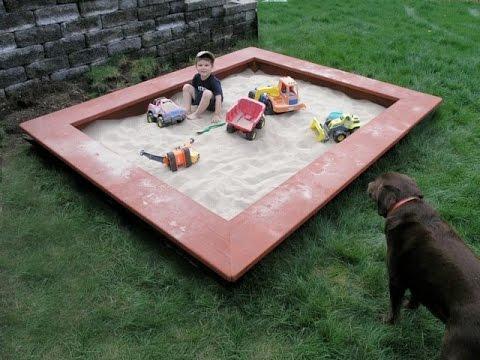 Sandkasten Selber Bauen Sandkasten Bauen Youtube