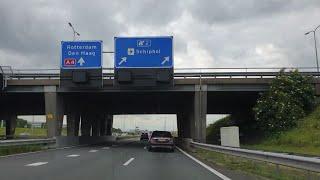 Dashcam Beelden Zaandam 》Schiphol Via: A7,A8,A10 en A4.