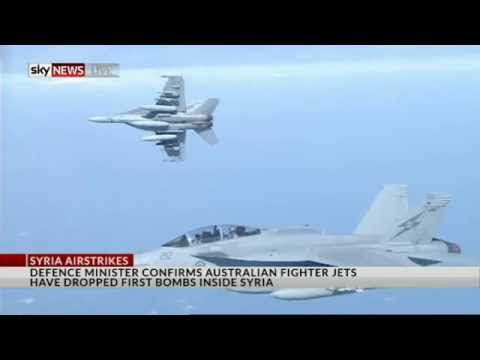 Australian jets bomb Syrian targets