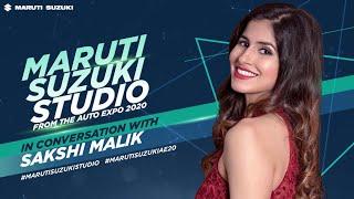 Sakshi Malik at #MarutiSuzukiStudio I #AutoExpo2020 #MarutiSuzukiAE20 #MarutiSuzukiStudio