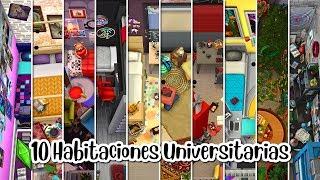 10 ESTILOS de HABITACIÓN UNIVERSITARIA 🐰 Los Sims 4 | A Construir 20 [RETO DE CONSTRUCCIÓN]