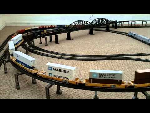 V75 Athearn and Bachmann trains on power loc and ez track