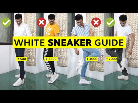 4 BEST White Sneakers for Men | Shoes for Men | BYB Fashion Hindi by San Kalra