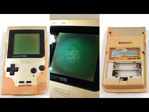 Let's Refurb! - Severely Damaged £15 Faulty GameBoy Pocket!