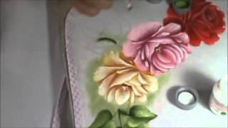 Dicas de pintura grátis – Pintando rosas – Folhas – Cristina Ribeiro