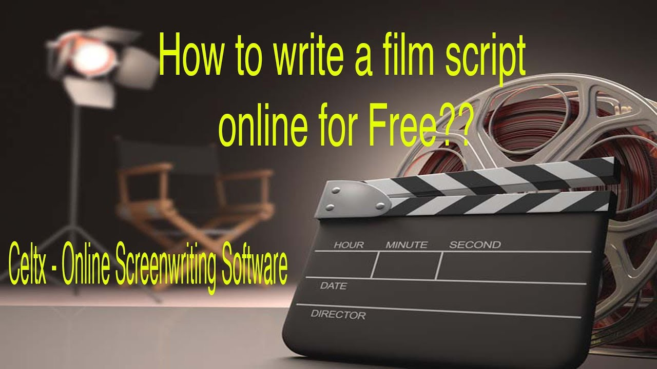how to write a screenplay online celtx free online software