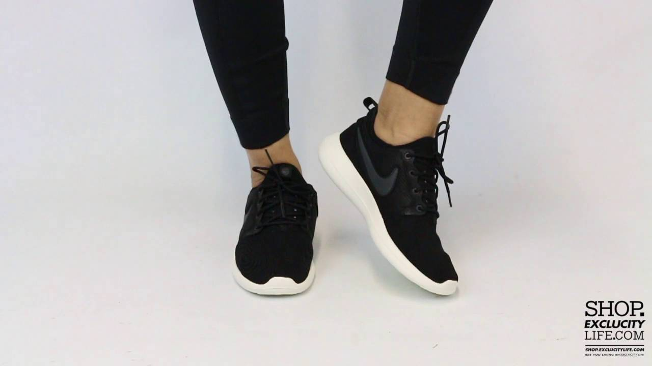 978c1e183c07 Nike Rosherun Two Black Sail On feet Video at Exclucity - YouTube