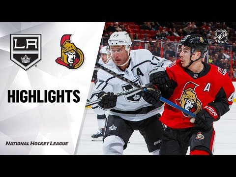 NHL Highlights | Kings @ Senators 11/7/19
