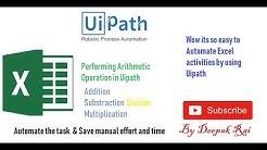 Uipath Tutorial For Beginners - Excel Activities