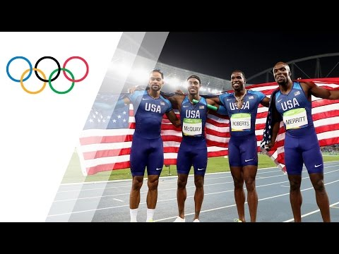 USA relay team wins 4X400 gold