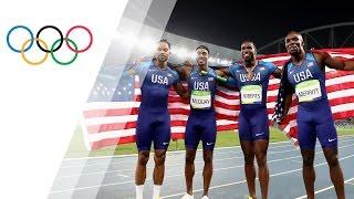 USA relay team wins 4X400 gold