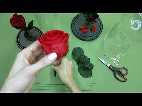 Как делают розы в колбе